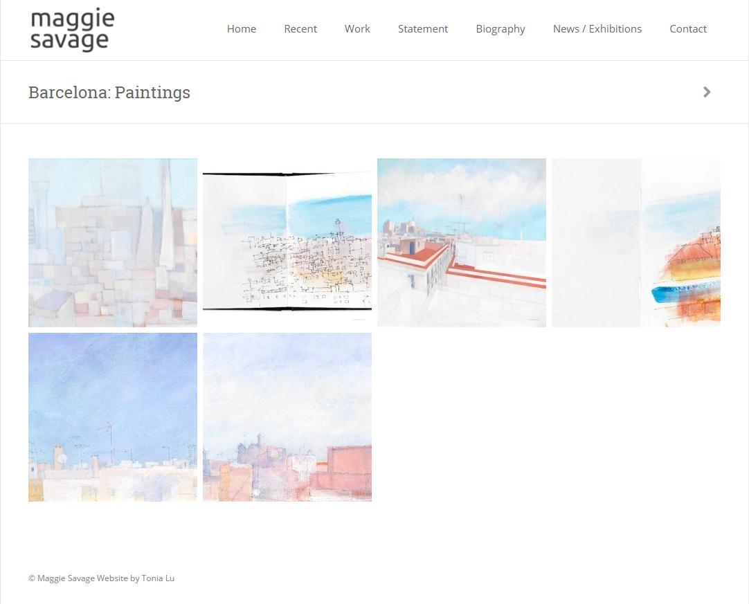 Maggie Savage – Barcelona  Paintings