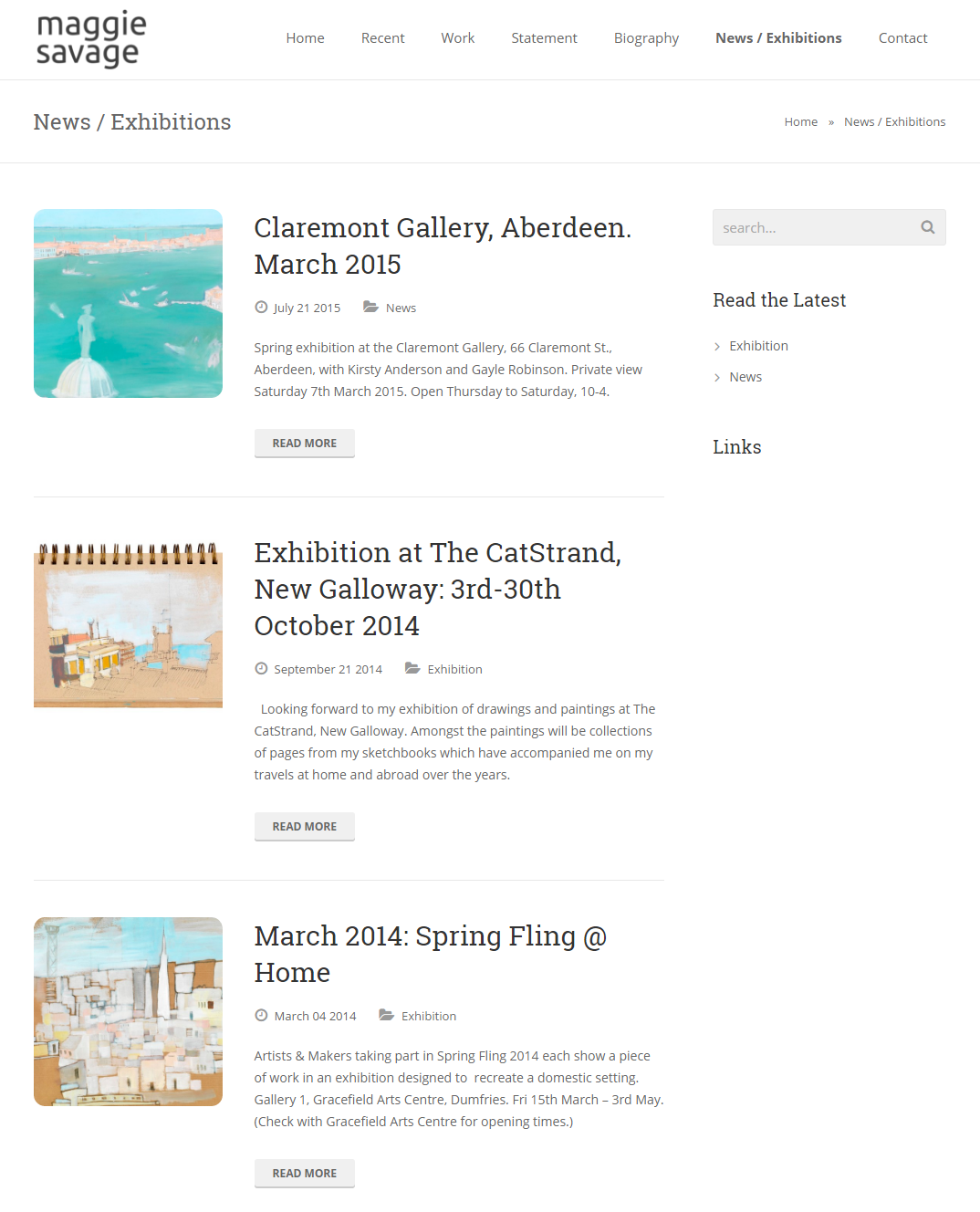 Maggie Savage – News   Exhibitions